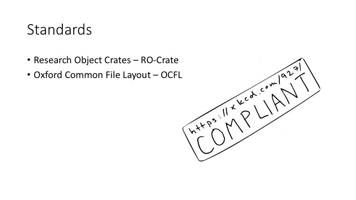 Standards / Research Object Crates – RO-Crate / Oxford Common File Layout – OCFL